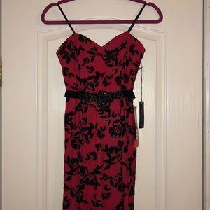 Black and Red Formal Gown